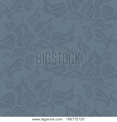 The raster version Floral seamless pattern background. Elegant luxury endless texture can be used for wallpaper, pattern fills, web page background,surface textures.