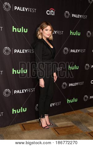 LOS ANGELES - MAR 25:  Ashley Benson at the 34th Annual PaleyFest Los Angeles -