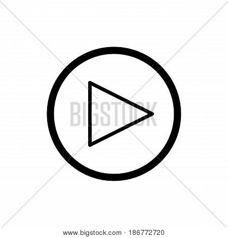 play button. vector icon in linear style isolated on white. Audio or video icon. eps 10