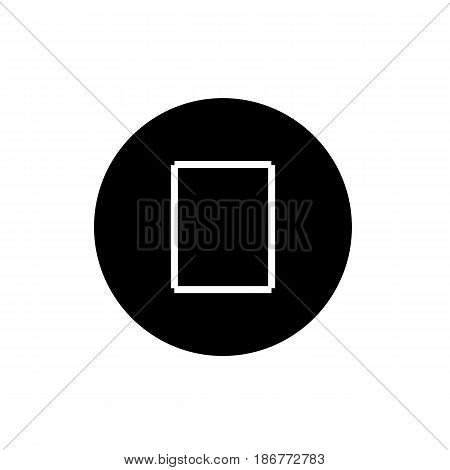stop button. vector icon in linear style isolated on white. Audio or video icon. eps 10
