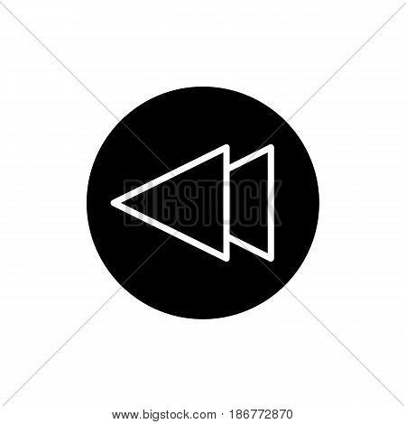 fast back rewind media player vector icon. Linear solid icon isolated on white. eps 10