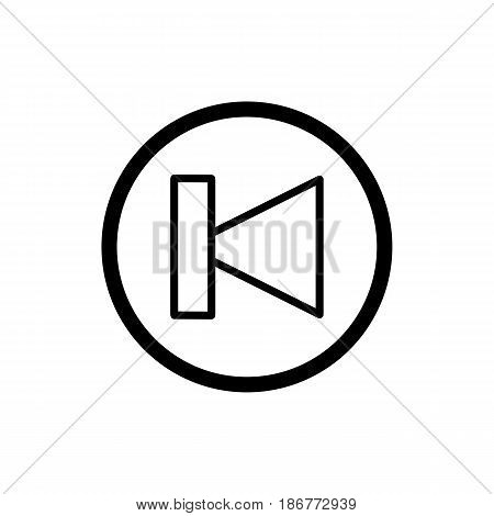 previous track button icon. Vector illustration outline on white. eps 10