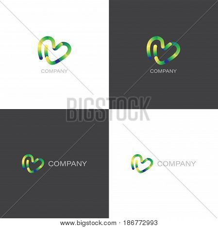 Vector eps logo for creative agency or design company