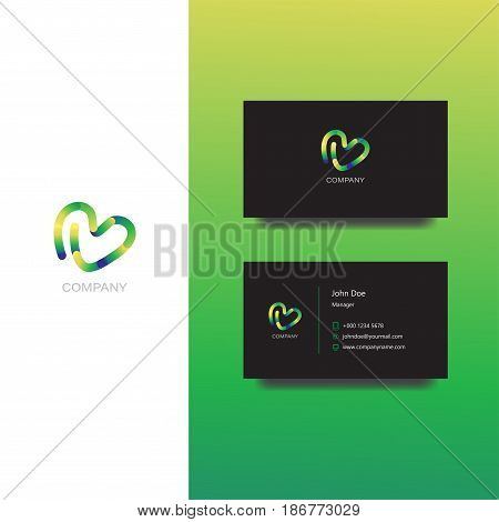 Vector eps logo for creative agency or design company vector, Business Card Template