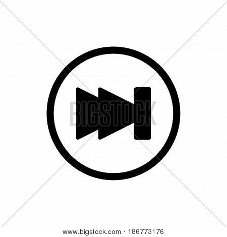 fast forward icon illustration isolated vector sign symbol. Rewind button isolated on white. eps 10