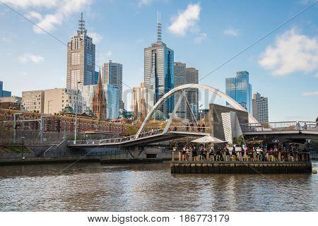 Melbourne, AUSTRALIA - July 11 2015: Melbourne city, Victoria, Australia 2015