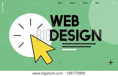 Web development mouse pointer cursor graphic