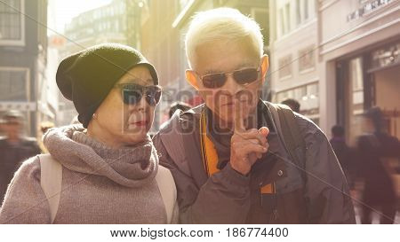 Understanding Senior Husband Telling His Wife To Be Quiet. Secret Of Long Tender Love Life