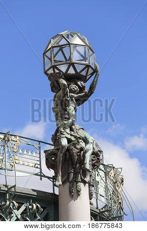 Municipal House sculpture Prague Czech Republic Europe