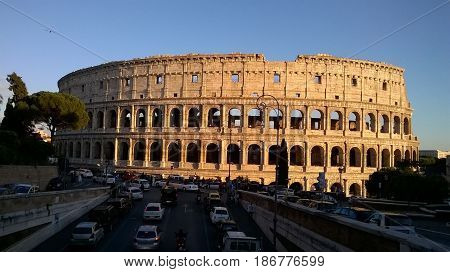 Pleasant afternoon in Rome by The Colosseum