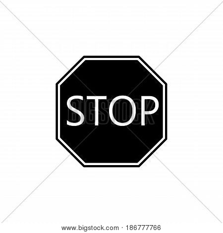 Stop solid icon, Traffic regulatory and warning stop sign, vector graphics, a filled pattern on a white background, eps 10.
