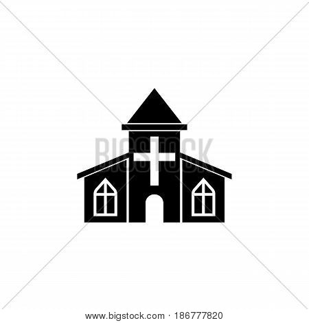 Church solid icon, religious monument and building sign, vector graphics, a filled pattern on a white background, eps 10.