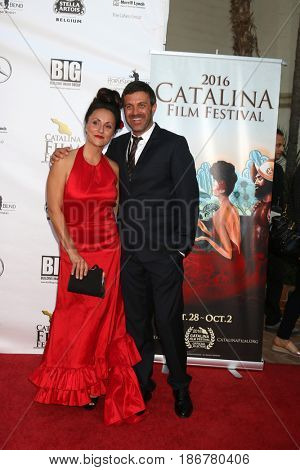 LOS ANGELES - OCT 1:  Porschia Denning, Ron Truppa at the Catalina Film Festival - Saturday at the Casino on October 1, 2016 in Avalon, Catalina Island, CA