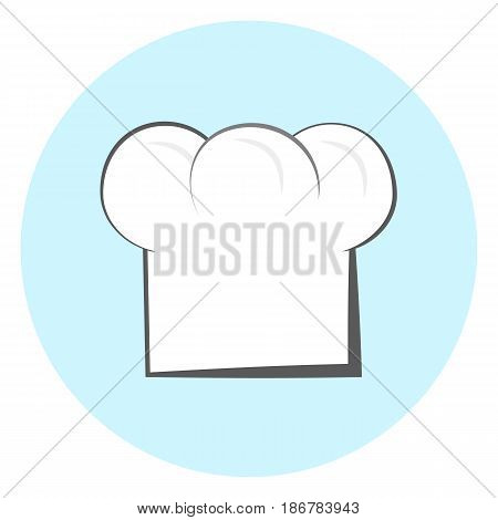 Chef hat vector icon white chef hat symbol