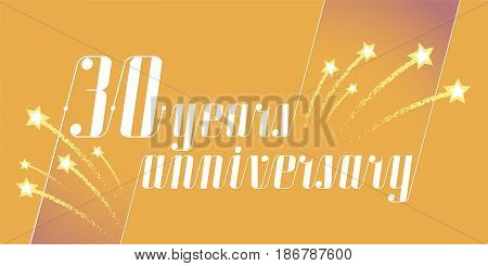 30 years anniversary vector icon logo. Graphic design element or banner for 30th anniversary