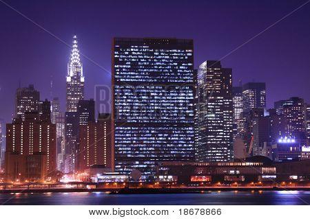 Midtown Manhattan skyline at Nights