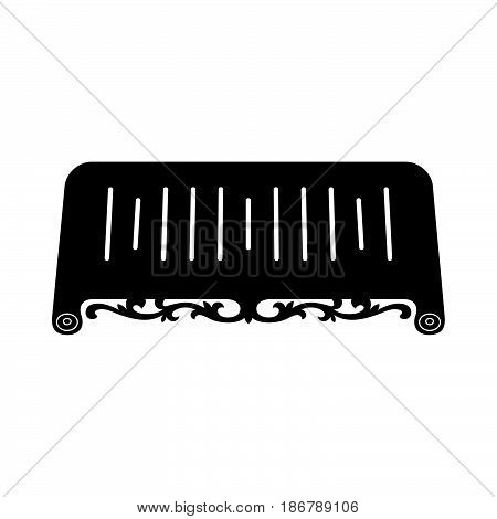 Tea tray ( shade picture ) on white