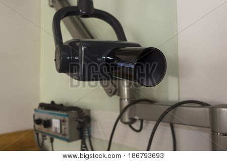 X-ray machine in the dental clinic. Selective focus