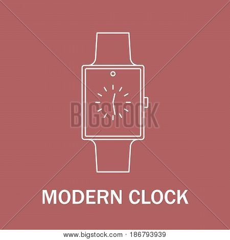 Time and clock sign. Watch icon. Line style illustration isolated. Modern design