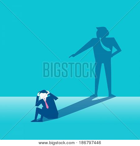 businessman with blame concept on the green background