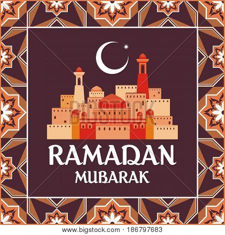 Ramadan Greeting Card Brown.eps