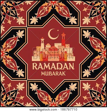 Ramadan Greeting Card Terracota.eps
