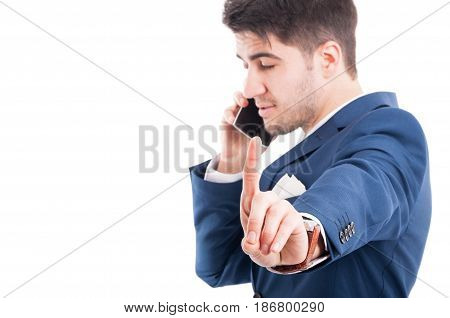 Busy Lawyer Talking On Smartphone