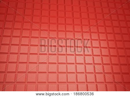 Abstract geometrical red background 3d illustration or backdrop. 3D rendering.