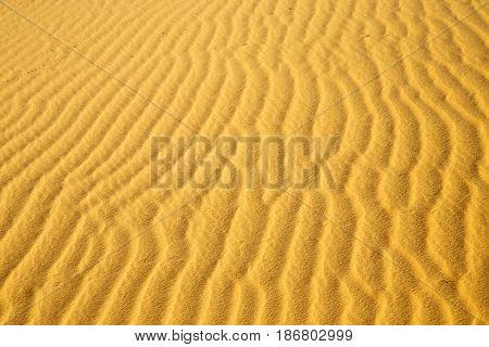 Africa   Brown Sand Dune In   Sahara Morocco Desert Line