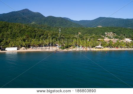 Aerial View of Paradise Beach in Ilhabela, Brazil