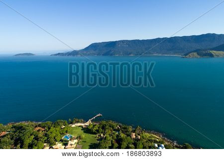 Aerial View of Ilhabela, Brazil