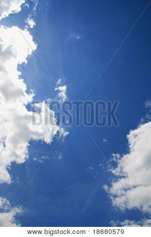 Sky and clouds for background