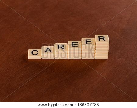 Chart With Words Career. Career Stair Concept.