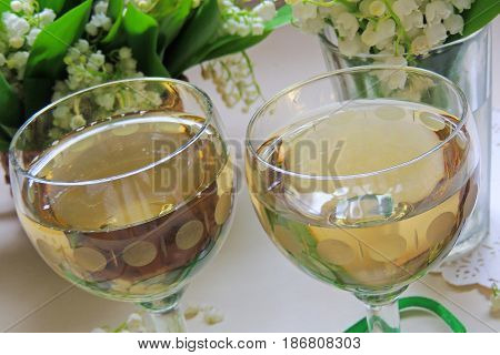 White Wine In The Glass