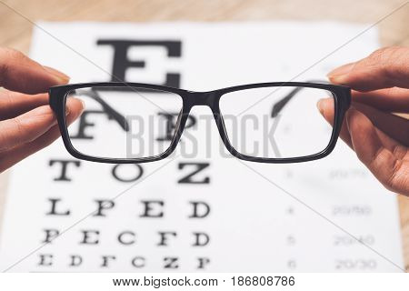 Concept of Eyes care for healthy eyes.