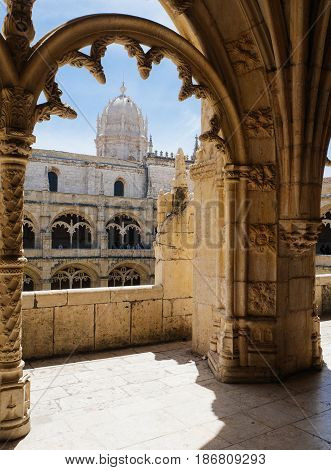 The Jeronimos Monastery - Lisbon Portugal - architecture background.