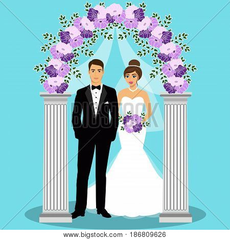 Wedding arch bride vector photo free trial bigstock wedding arch with bride and groom bride and groom wedding design wedding decoration junglespirit Images