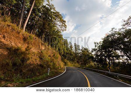 Mountain Road To Pai Village
