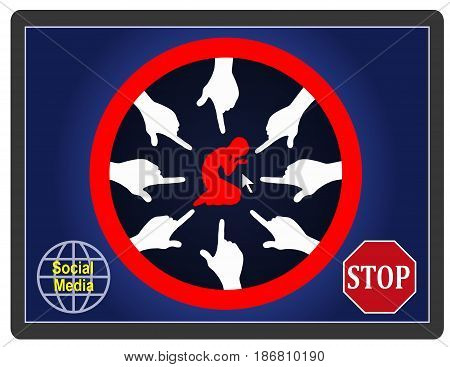 Stop Bullying Kids. Prevent cyberbullying of children on the internet