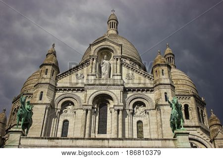 Sacre-Coeur . The Basilica of the Sacred Heart of Paris