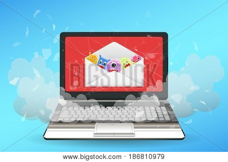 laptop computer broken by virus from email