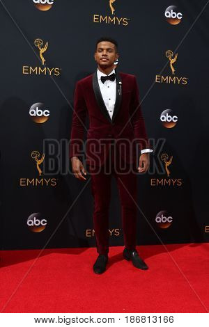 LOS ANGELES - SEP 18:  Trevor Jackson at the 2016 Primetime Emmy Awards - Arrivals at the Microsoft Theater on September 18, 2016 in Los Angeles, CA