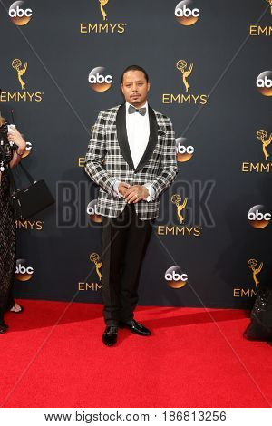 LOS ANGELES - SEP 18:  Terrence Howard at the 2016 Primetime Emmy Awards - Arrivals at the Microsoft Theater on September 18, 2016 in Los Angeles, CA