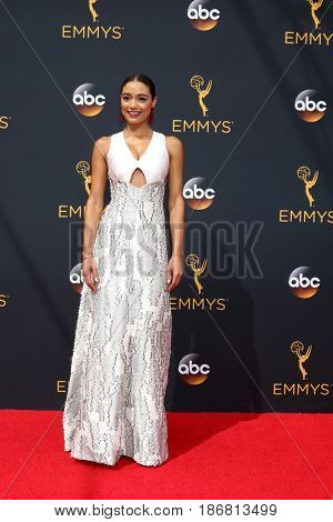 LOS ANGELES - SEP 18:  Rachel Smith at the 2016 Primetime Emmy Awards - Arrivals at the Microsoft Theater on September 18, 2016 in Los Angeles, CA