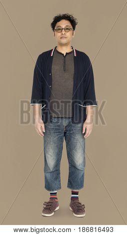 Adult Solo Asian Man Portrait Studio