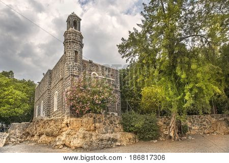 Church of the Primacy of Peter on Sea of Galilee, Tabgha, Upper Galilee, Israel