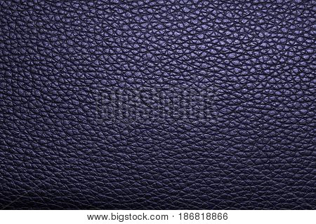 Deep blue leather texture, leather background for design. Pattern of leather that occurs natural.