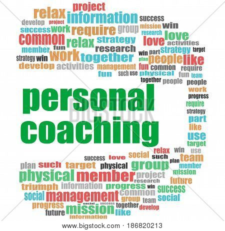 Word Personal Coaching. Education Concept . Word Cloud Collage
