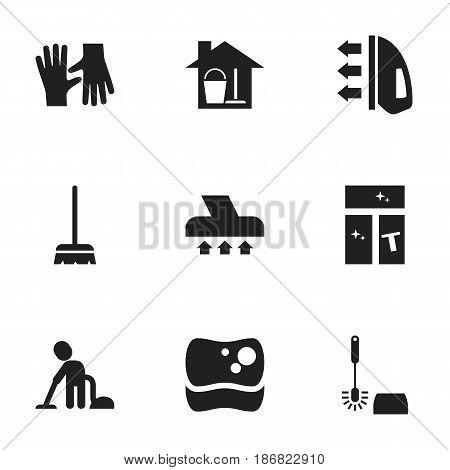 Set Of 9 Editable Hygiene Icons. Includes Symbols Such As Wc Cleaning, Washing Tool, Steam And More. Can Be Used For Web, Mobile, UI And Infographic Design.