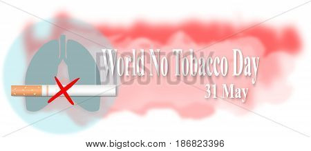 Illustration of a Banner for World No Tobacco Day
